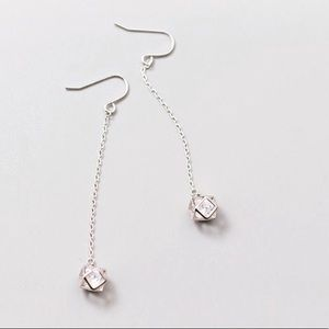 Sterling Silver Caged Crystal Earrings